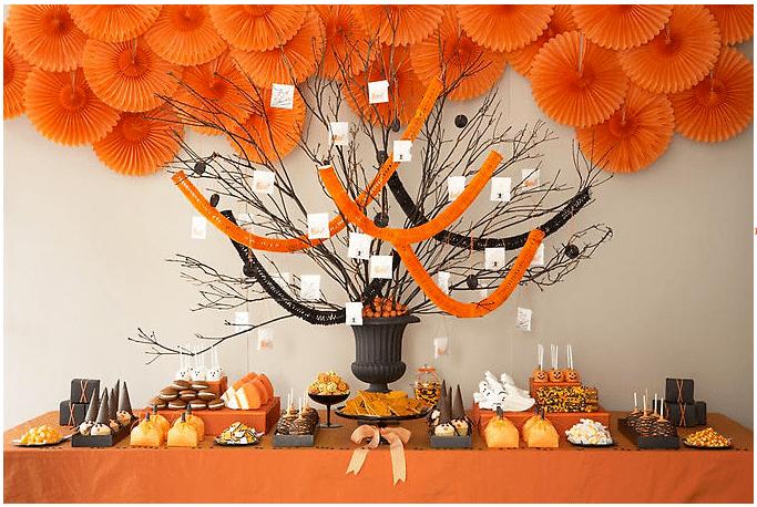 halloween honinggraat decoraties tafel