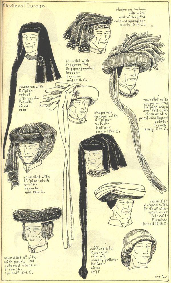 middeleeuwse hoofddeksels