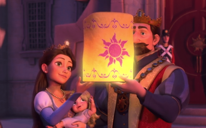 tangled geboorte rapunzel lampion oplaten