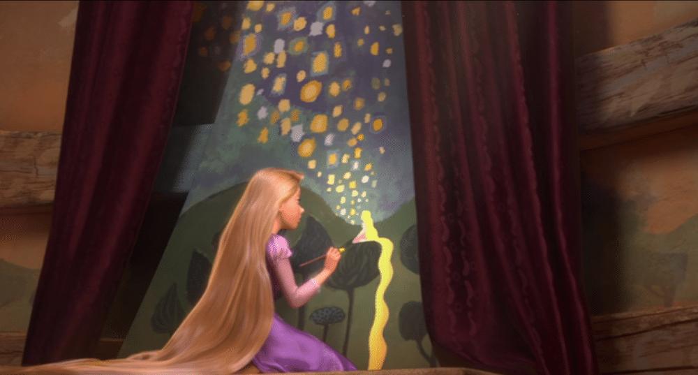 tangled rapunzel en haar vision board