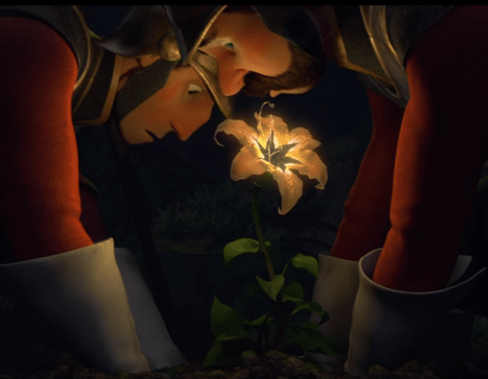 tangled soldiers find flower