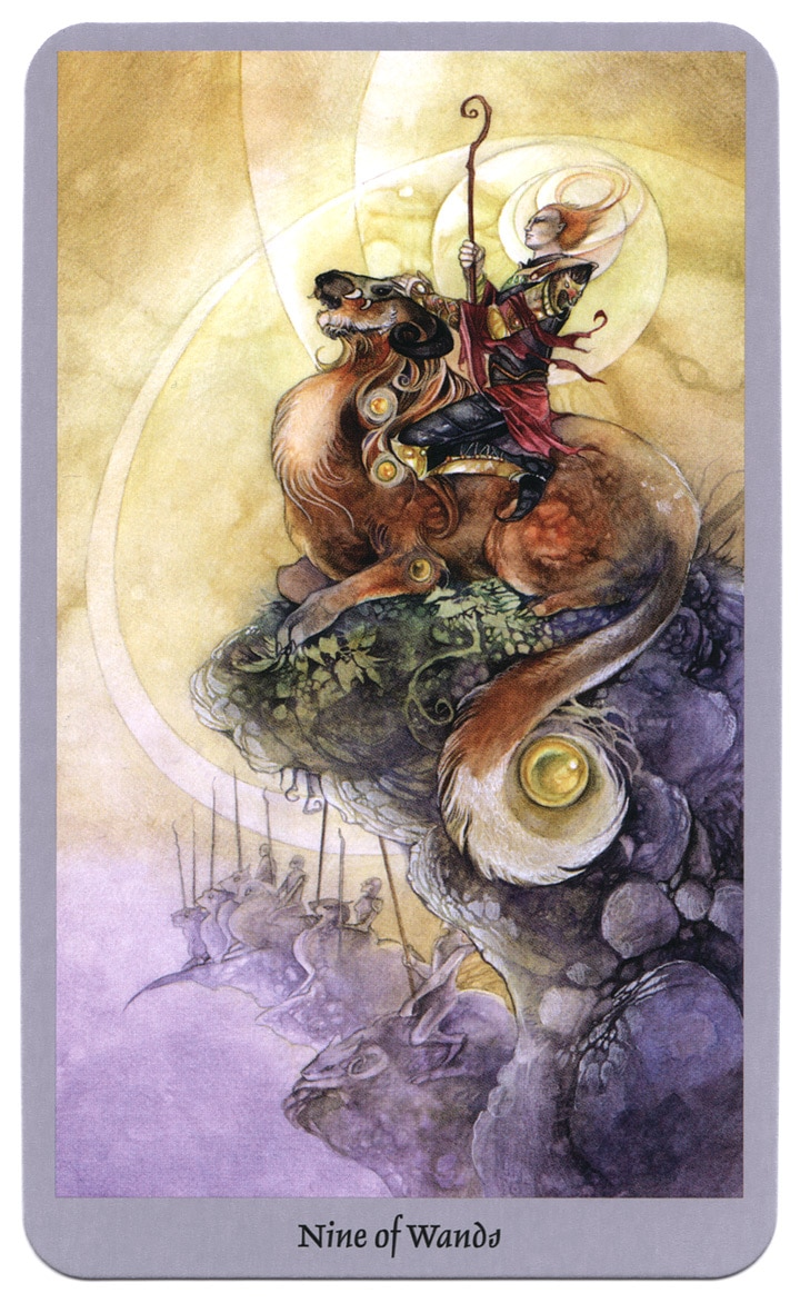 tarotkaart staven 9 shadowscapes tarot