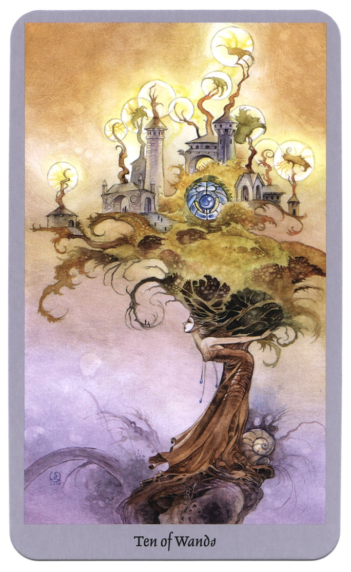 Shadowscapes tarotkaart Staven 10