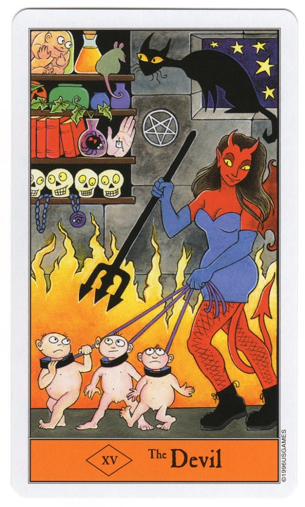 De Duivel uit de Halloween Tarot