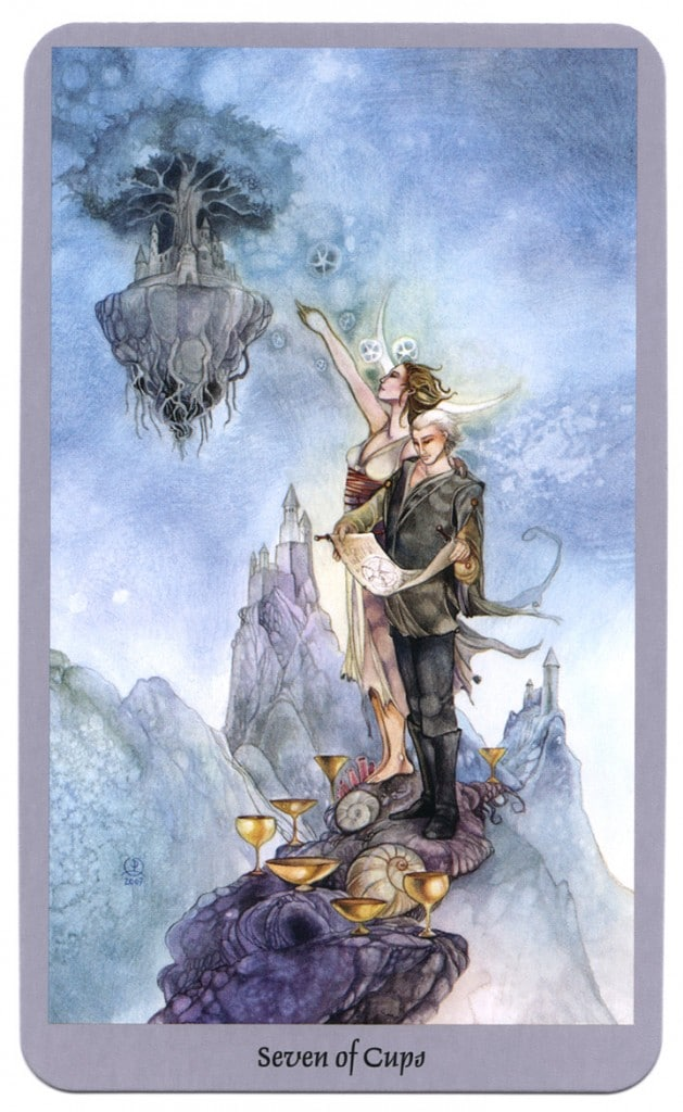 shadowscapes tarot kelken 7
