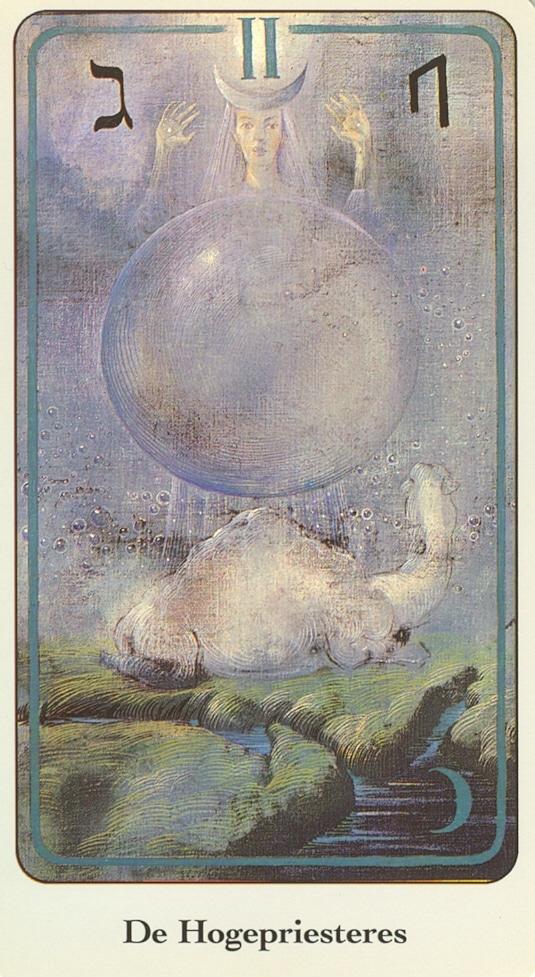 Haindl Tarotkaart De Hogepriesteres