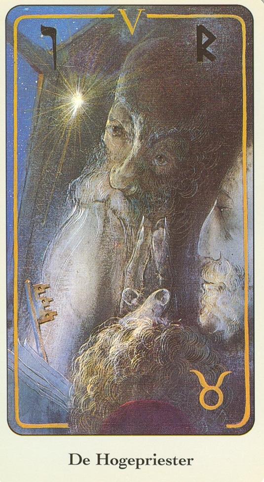 Haindl Tarotkaart hogepriester