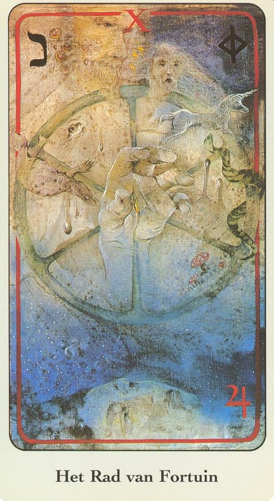 Haindl Tarotkaart Rad van Fortuin