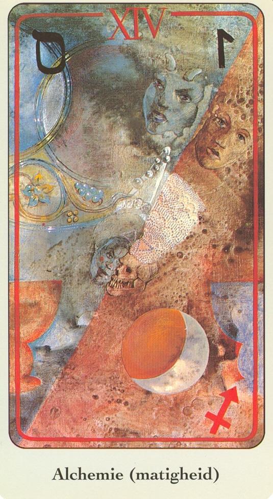 Haindl Tarotkaart Alchemie matigheid