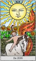 tarotkaart de zon klein