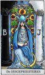 tarotkaart de hogepriesteres klein