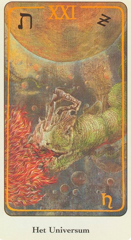 Haindl Tarotkaart Het Universum (De Wereld)