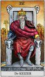 tarotkaart de keizer klein