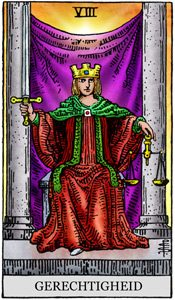 tarotkaart 8 gerechtigheid