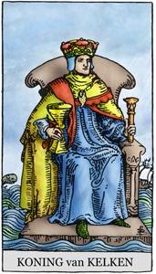 tarotkaart kelken koning klein