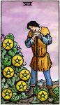 tarotkaart pentakels 7 klein