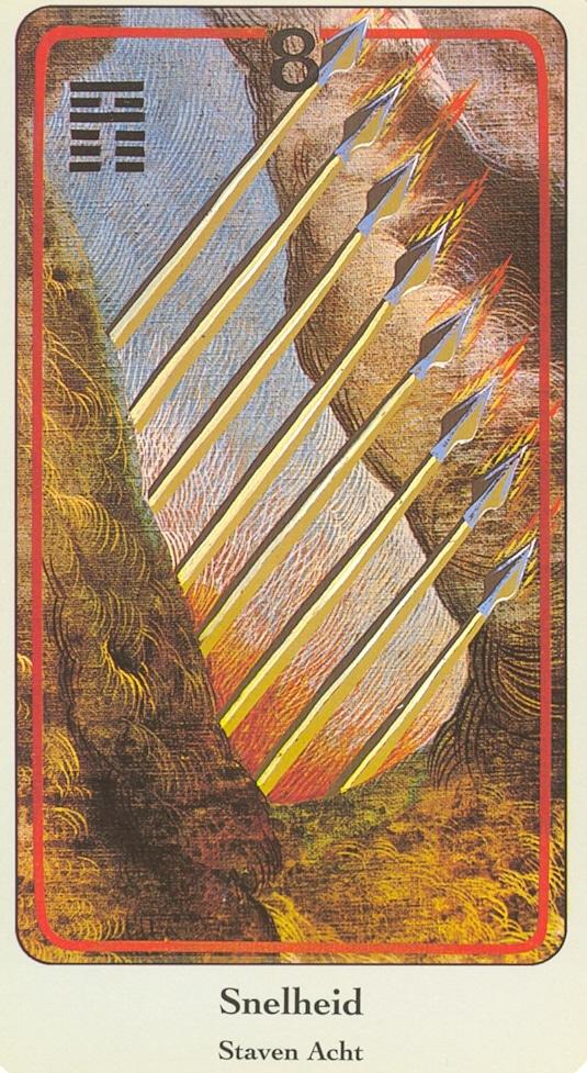 Haindl Tarotkaart Staven Acht
