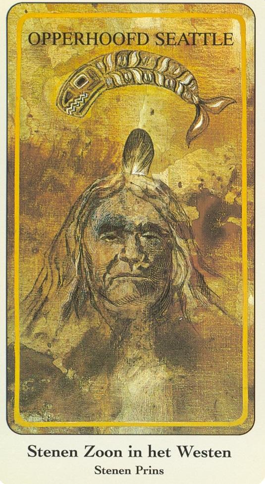Haindl Tarotkaart Stenen Zoon in het Westen (Stenen Prins)