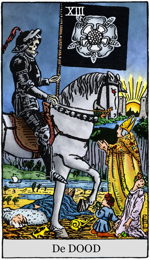 Rider Waite Tarotkaart De Dood