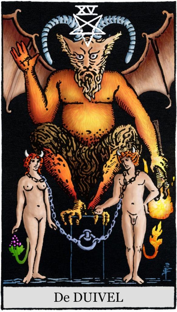 Rider Waite Tarotkaart De Duivel
