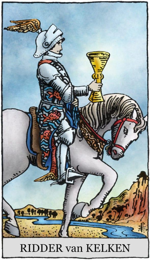Rider Waite Tarotkaart Kelken Ridder