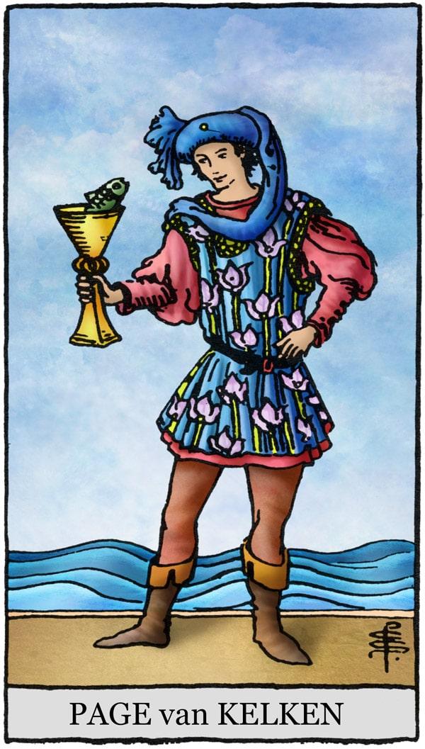 Rider Waite Tarotkaart Kelken Page