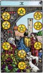 Tarotkaart Pentakels Tien - Voorspoed
