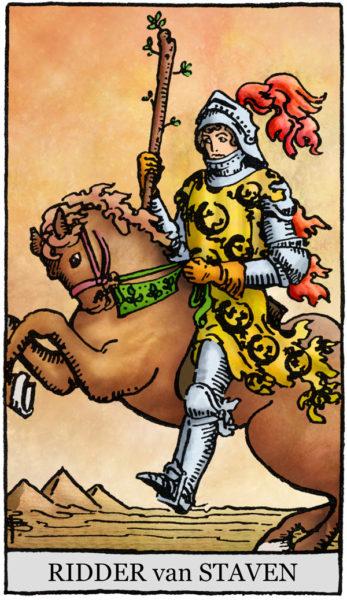 Rider Waite Tarotkaart Staven Ridder
