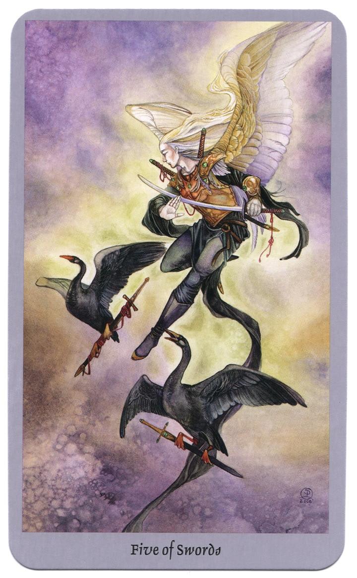 shadowscapes tarot zwaarden vijf