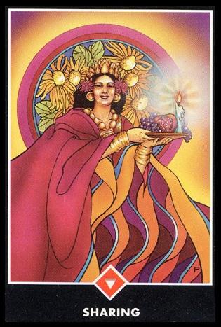 osho zen tarot vuur vrouw koningin delen