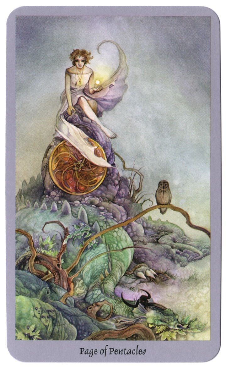 shadowscapes tarot pentakels page