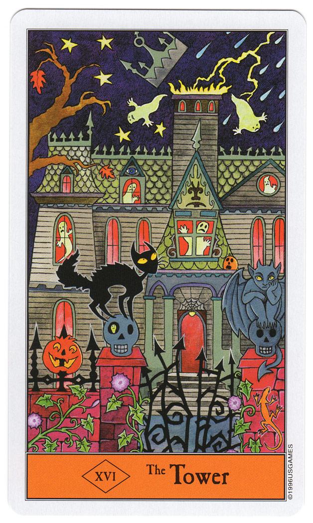De Toren uit de Halloween Tarot - een huis vol geesten