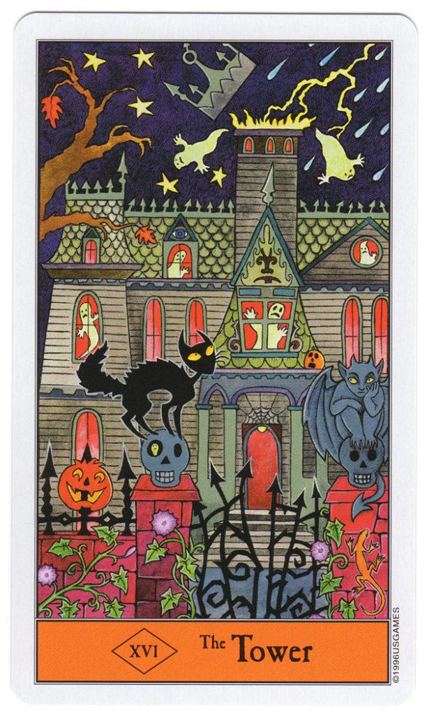 halloween tarot 16-de toren energetisch reinigen huis