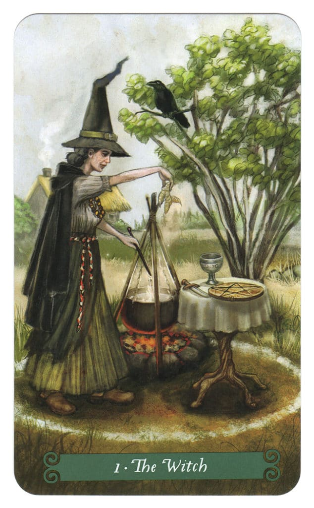 green witch tarot magiër witch
