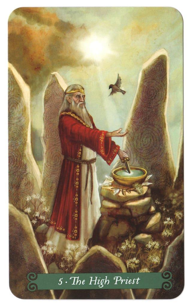 Green witch tarot Hogepriester