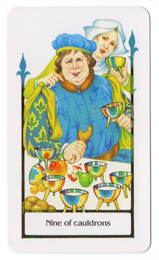 Ketels (Kelken) Negen uit de Old Path Tarot