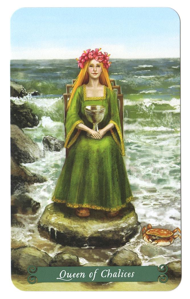 Green Witch Tarot – Koningin van Kelken