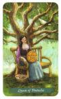 Green Witch Tarot - Koningin van Pentakels