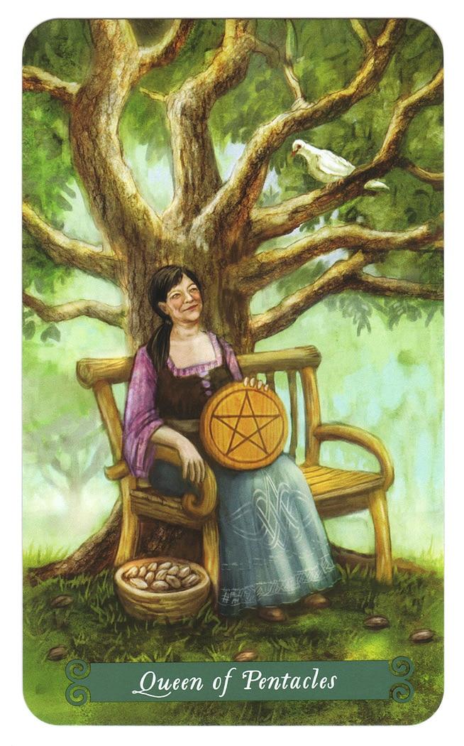 Green Witch Tarot – Koningin van Pentakels