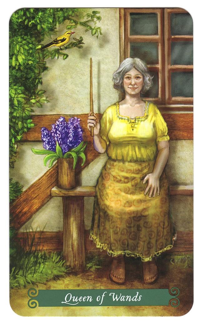 Koningin Staven uit de Green Witch Tarot