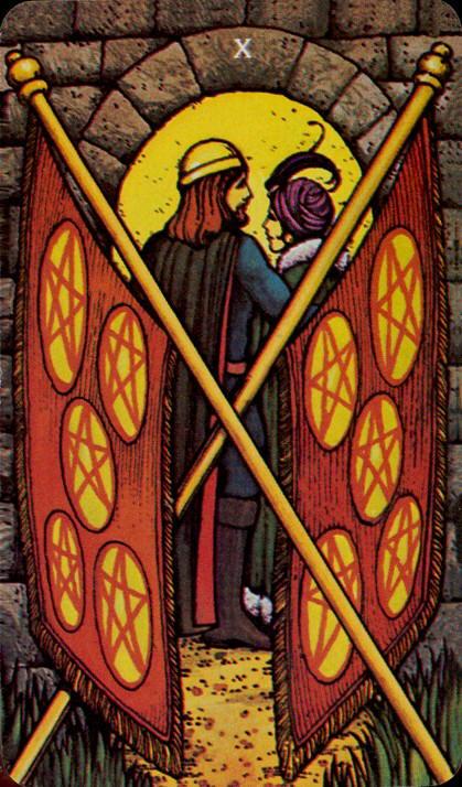 Morgan Greer Tarotkaart Pentakels Tien