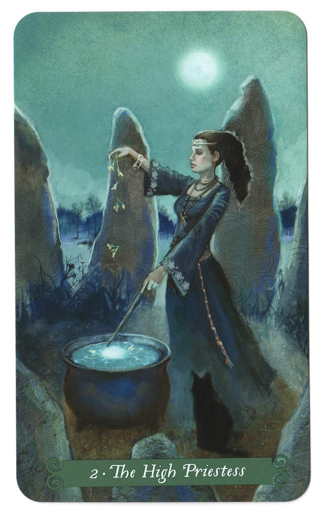 Green Witch Tarotkaart De Hogepriesteres