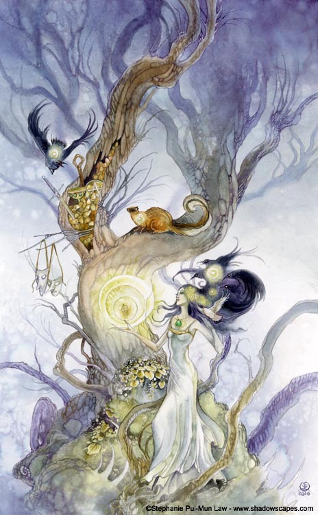 Shadowscapes tarotkaart Happy Squirrel