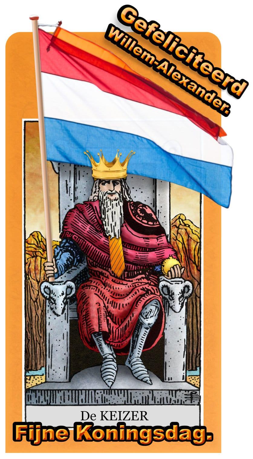 Fijne Koningsdag en een Keizerlijk Tarotlegpatroon