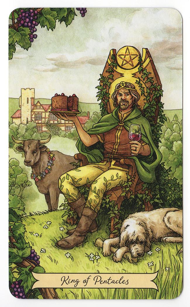 Everyday witch tarot Koning van Pentakels