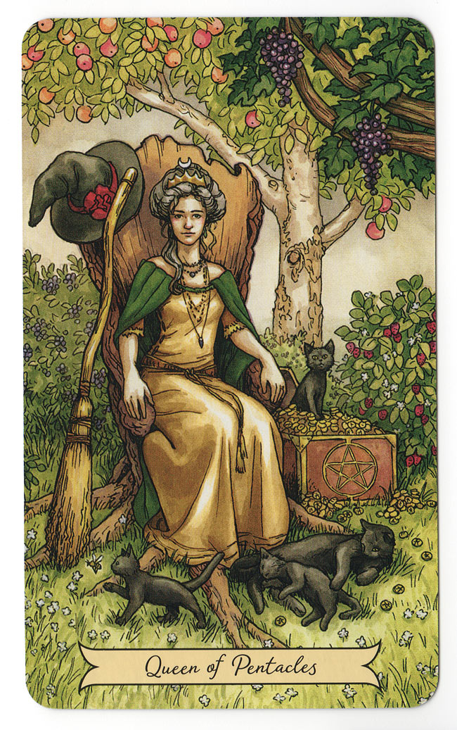 Everyday Witch Tarot Koningin van Pentakels