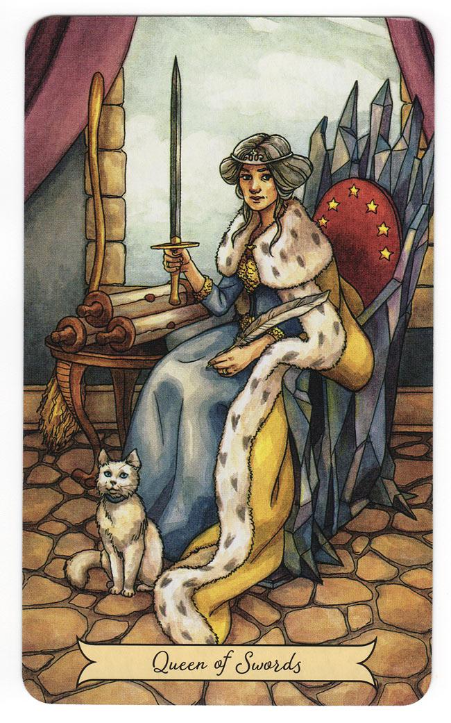 Everyday witch tarot koningin van zwaarden