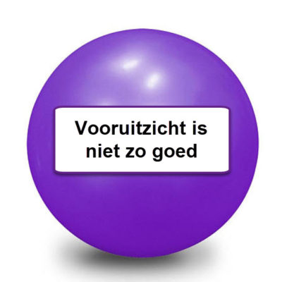 Tarot magic 8 ball 19 Vooruitzicht is goed