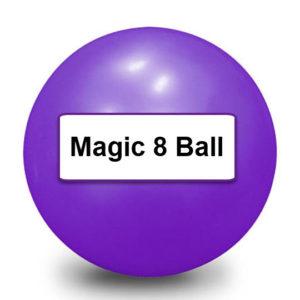 Geen zin in Tarot? Magic 8 ball to the rescue