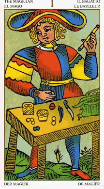 Tarot Marseille Magiër – Goochelaar of Geleerde